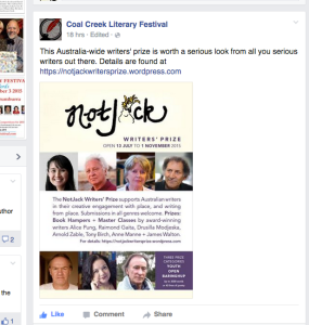 Drop by this literary festival on October 3rd, from 11am, at Coal Creek in Korumburra. (Never mind the grand final!)