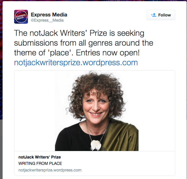 Express Media is a great organisation promoting young writers. Here is notJack advisory panel member Romana Koval gracing the worthy Express Media prize post.