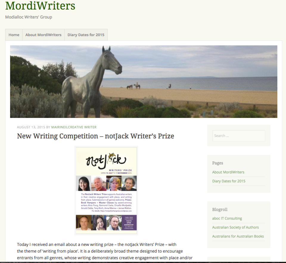 The Mordiwriters blog was one of the first to share notJack - and what a generous write-up it was!